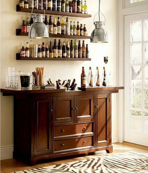 Easy neat do it yourself home bar time to raise the - Small home bar ideas ...