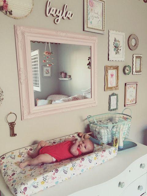 Nursery, baby girl nursery, blush and gold nursery, flower mobile, diy nursery, shabby chic nursery, vintage nursery, floral nursery, blush, pink nursery, baby nursery, baby room, kids room, www.tessarayanne.blogspot.com
