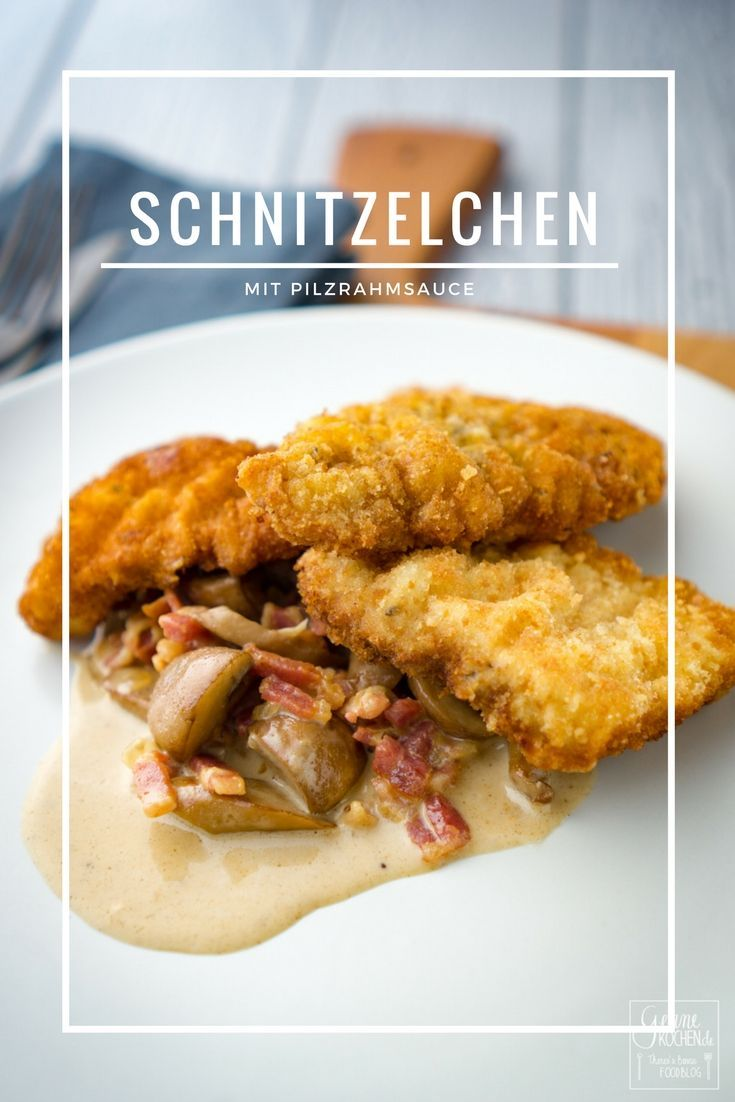 Super leckere Schnitzelchen, die am nächsten Tag zu einem Schnitzelbrötchen verwendet werden können, und eine Pilzrahmsauce - fertig ist ein echtes Soulfood.