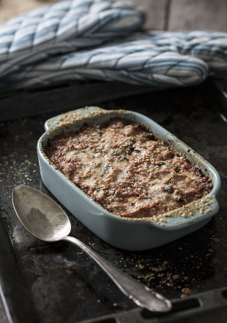 Lasagne van tonijn en courgette