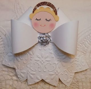 Stampin' Up! Gift Bow die Angel ornament