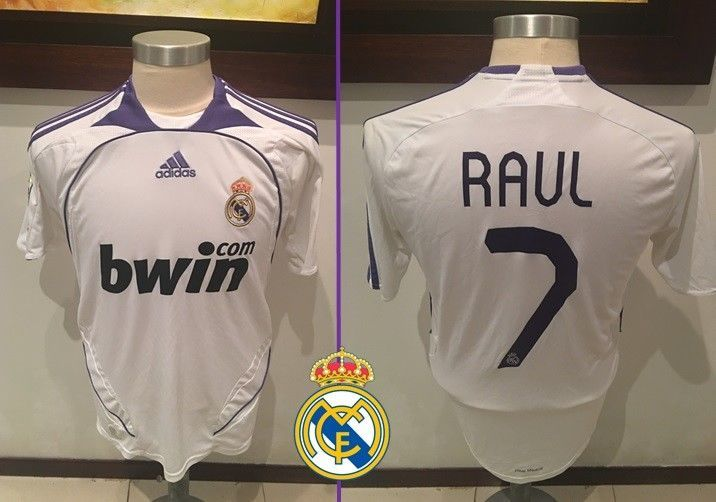 watch c4ce4 17129 ADIDAS Vintage REAL MADRID 2007 2008 Home Liga RAUL Jersey ...
