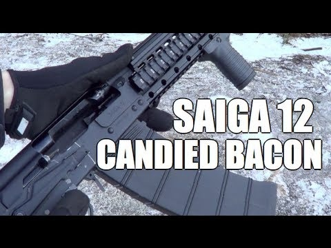 Saiga 12 Candied Bacon    Facebook: https://www.facebook.com/mattv2099  Twitter: https://twitter.com/mattv2099    BEST COMEDY VIDEOS:  Red Jello Glock: http://youtu.be/8CvK70t1sjk  AK-47 Fruitecake: http://youtu.be/TEWAbN938Ro  600 round Glockazine: http://youtu.be/UtpHfpXy7WY