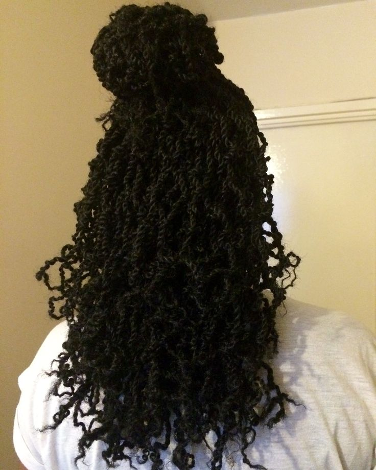 Mini twists with Marley hair