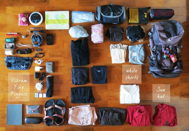 how to pack light for a month