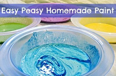 Creative Playhouse: Homemade Paint: Baby Toddlers Plays Ideas, Blue Food, Food Color, Easy Homemade, Homemade Paintings, Dishes Soaps, Easy Peasi, Creative Playhouse, Peasi Homemade
