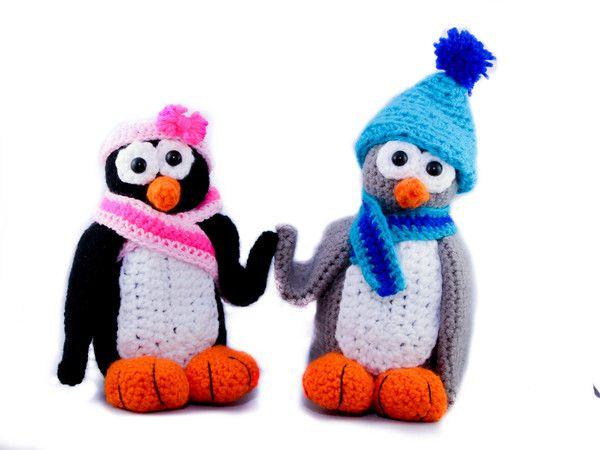 Pinguin Plitsch and Platsch - Crochet Pattern https://www.crazypatterns.net/en/items/22147/pinguin-plitsch-and-platsch
