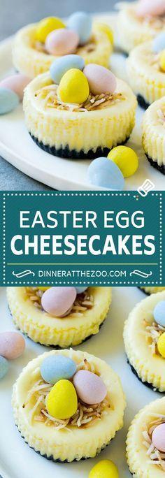 Easter Egg Cheesecakes Recipe   Mini Cheesecakes   Easter Dessert Recipe   Birds Nest Cheesecake   Easter Cheesecake