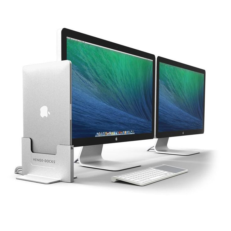The Vertical Docking Station for the MacBook Pro with Retina Display allows users to get the best features of a laptop, desktop and media center PC all from one