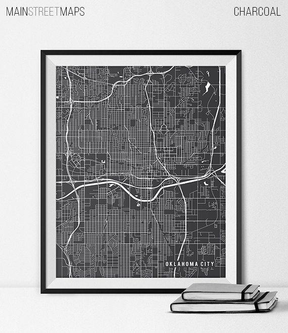 Oklahoma City Map Print Oklahoma City Poster of by MainStreetMaps