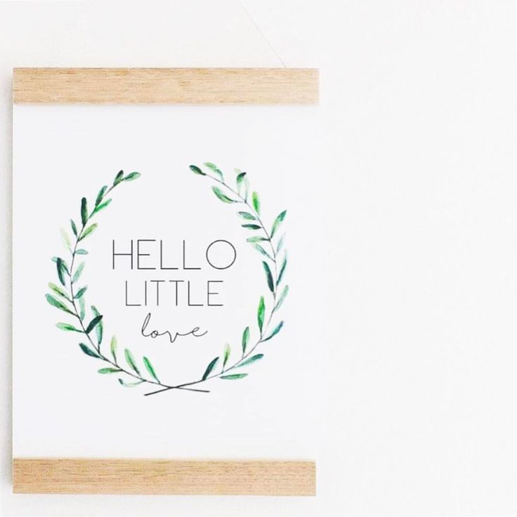 Hello little love I love the softness an oak frame or poster hanger adds to the print! Perfect with the greenery in our hello little love print! Looking for a unique general neutral baby shower gift? This print + our wreath baby milestone cards make the perfect pair! Print and poster hanger available now via our website, link in bio x @fawnandfinch