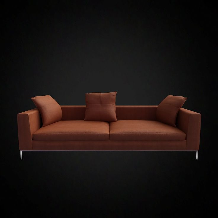B and B Italia George Sofa - 3D furniture model - Use PROMO CODE: pin3d and get 30% off