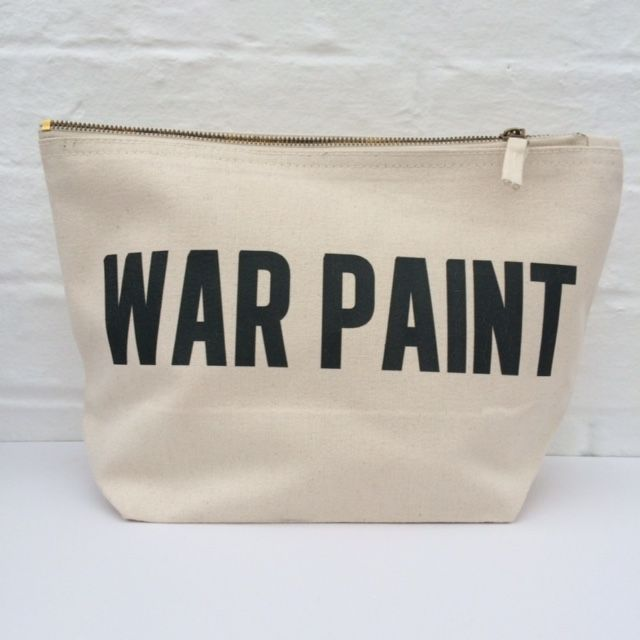 War Paint Cosmetic Bag--You could totally DIY this