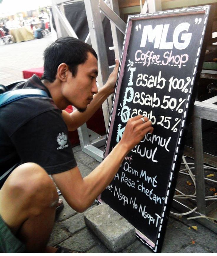 Chalk Board Coffee