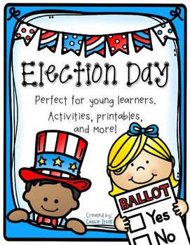 If youre looking for some fun, easy, and engaging activities to do with your young learners for the upcoming election, then look no further! This pack includes the following:vocabulary posters in colormini vocabulary books in color or black and white facts about what it takes to be the Presidentindividual voter cards (make your own voter picture or print a premade one)multiple voting ballots in color or black and white (even one for you to create your own)ballot counting worksheetsI voted…