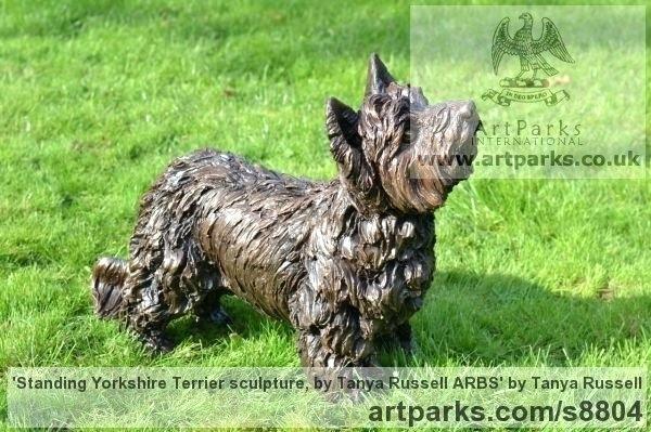 Cairn Terrier Garden Statues Bronze Resin Dogs Sculpture By Sculptor Titled Standing Terrier Sculpture Cairn Terrier Dog Sculpture Sculpture Yorkshire Terrier