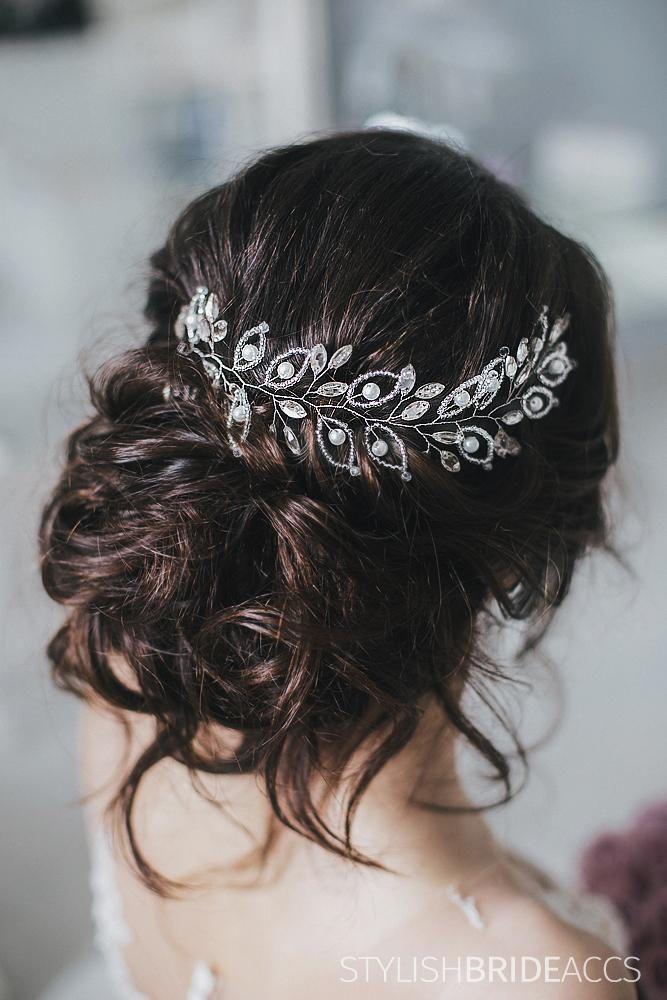 Wedding Crystal Hair Vine, Bridal Hair Crystal Vine, Hair Accessories, Crystal Wedding Hair Vine, Bridal Wedding Crystal Hairpiece by StylishBrideAccs on Etsy