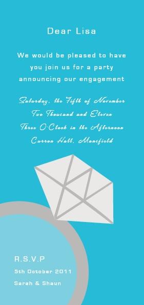 Diamond Ring Engagement Invitation