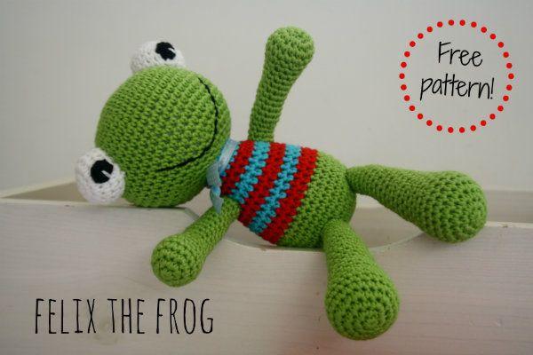 Felix the Frog – free amigurumi pattern in Dutch