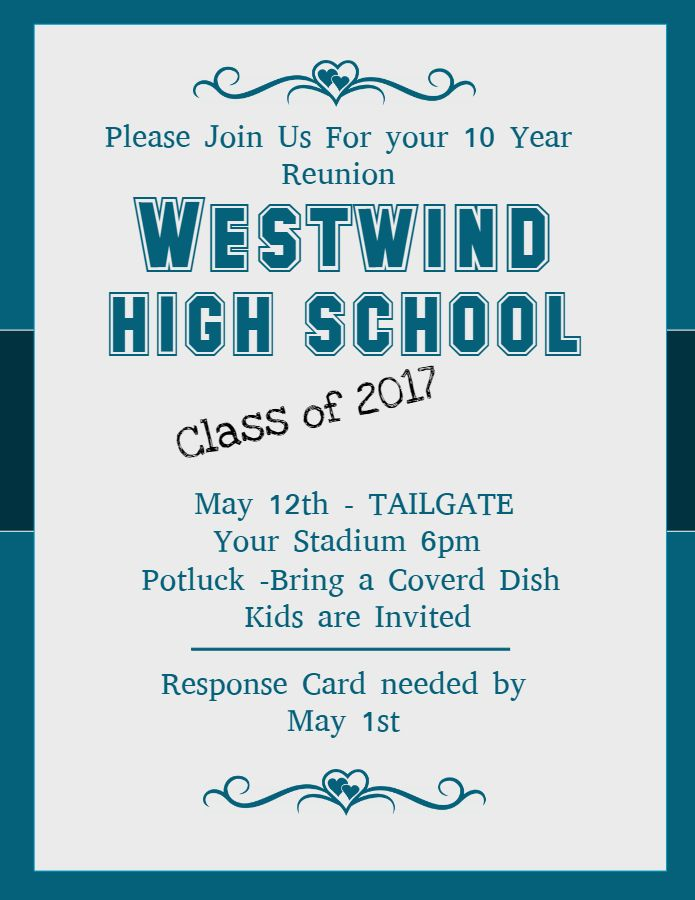 High school class reunion flyer template School Reunion Event
