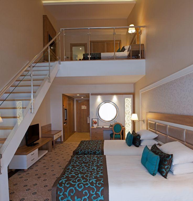 Dublex Aile odaları, özellikle çocuklu ailelerin konforu ön planda tutularak planlanmıştır. Ortalama büyüklükleri 56 m2 olan Dublex Aile od..