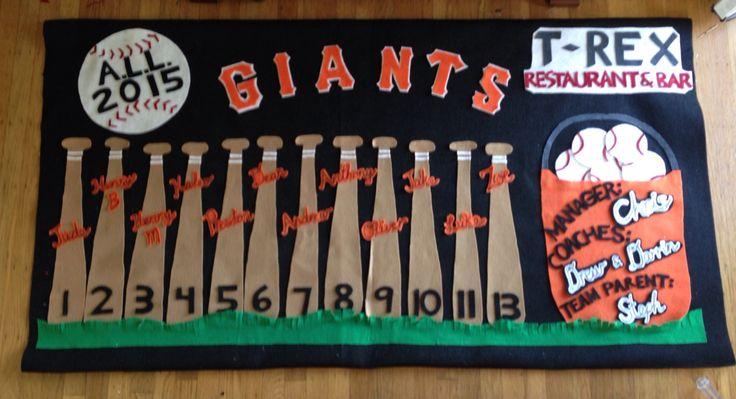 little league banner 2015  go giants