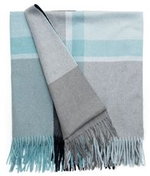 The stunning Manhattan Alpaca blend throw in Jade Green/Dusty Green from Elvang, Denmark is available at Northlight