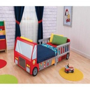 Fire Truck Toddler Bed - A firefighter needs a place to rest their head!