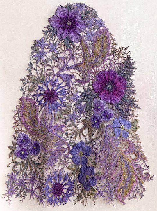 Sue Rangeley: Pavonina lace sleeve panel. Photo credit Michael Wicks