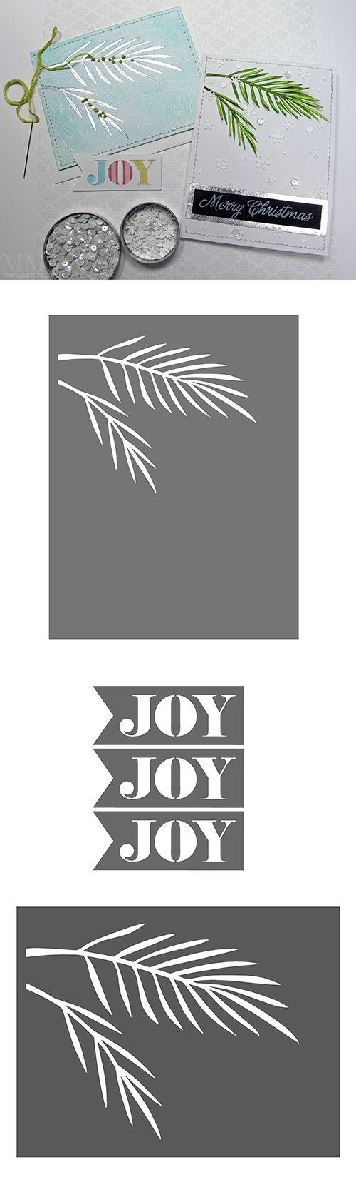 Christmas tree bough & 'JOY' flag - free Silhouette & SVG cutting files #CutFile