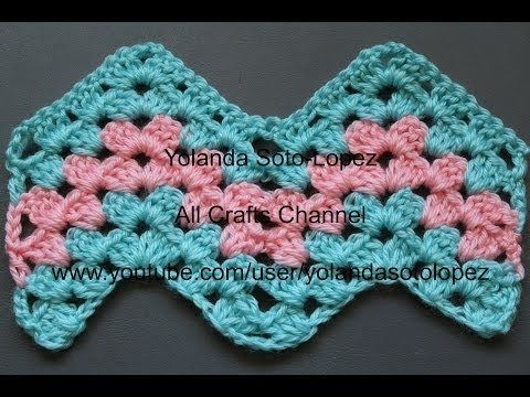 ▶ #Crochet Granny Ripple Pattern - YouTube (Yolanda Soto Lopez)