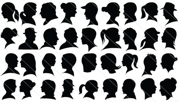 Cameo #Silhouette #Headshots #vector (120 different heatshots)