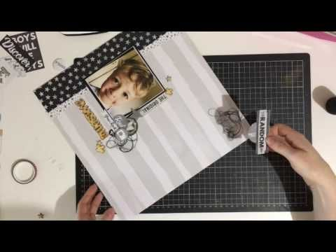 Kitaholic Kits - June Kits - 12x12 Layout with Rachel