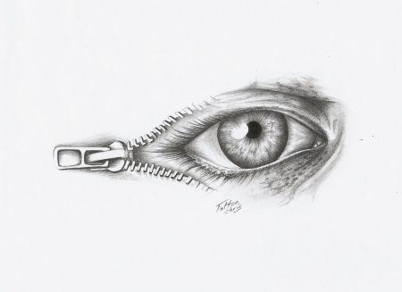 reisverschluss Auge
