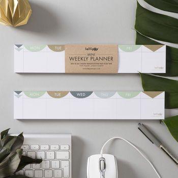 Mini 'Keyboard' Weekly Planner Pad : Matt Gold