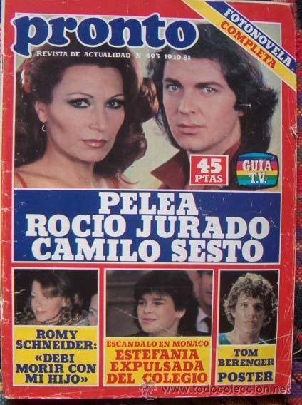 PRONTO magazine 1981 / DEW JURY, CAMILO SESTO, LUCIA BOSE, TOM BERENGER…