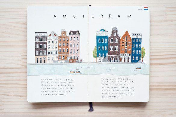 Diario di viaggio illustrato! Belle illustrazioni #WilliamHannahUK #noteb …