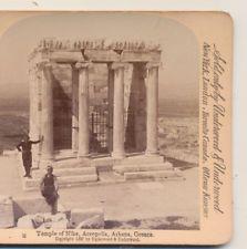 Men Temple of Nike Acropolis Athens Greece Underwood&Underwood, 1897