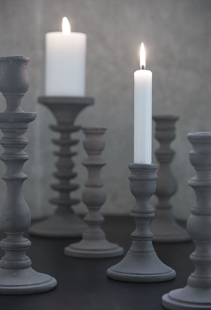 Grey Candlesticks