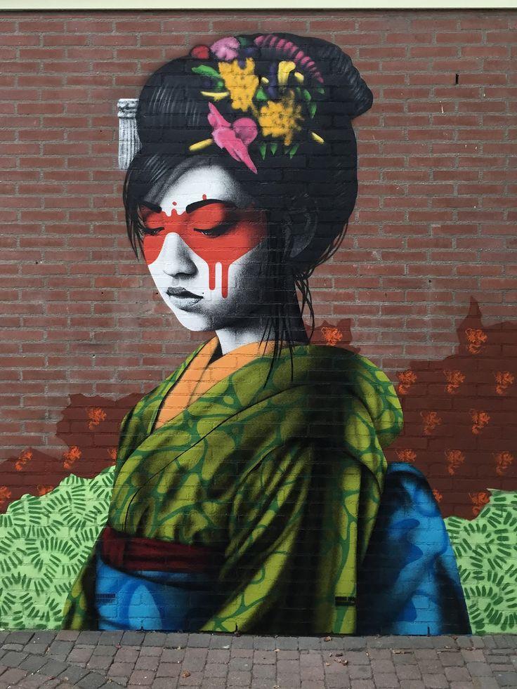 "Fin Dac - Street Art - ""Oralali"" - Breda, Netherlands"