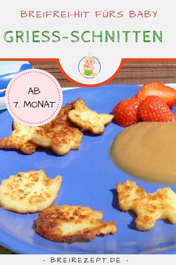 Süße Grießscheiben   – Rezepte für's Kleinkind