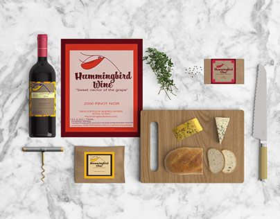 """Check out new work on my @Behance portfolio: """"humming bird wine mock up"""" http://be.net/gallery/48009313/humming-bird-wine-mock-up"""