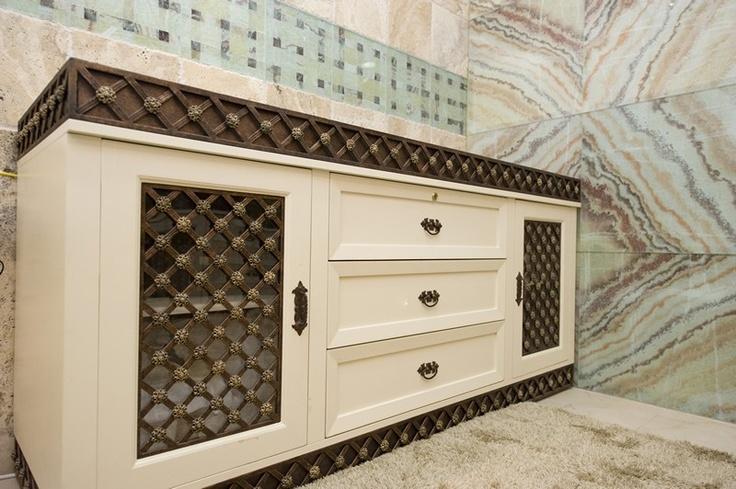 Wrought Iron bathroom cupboard