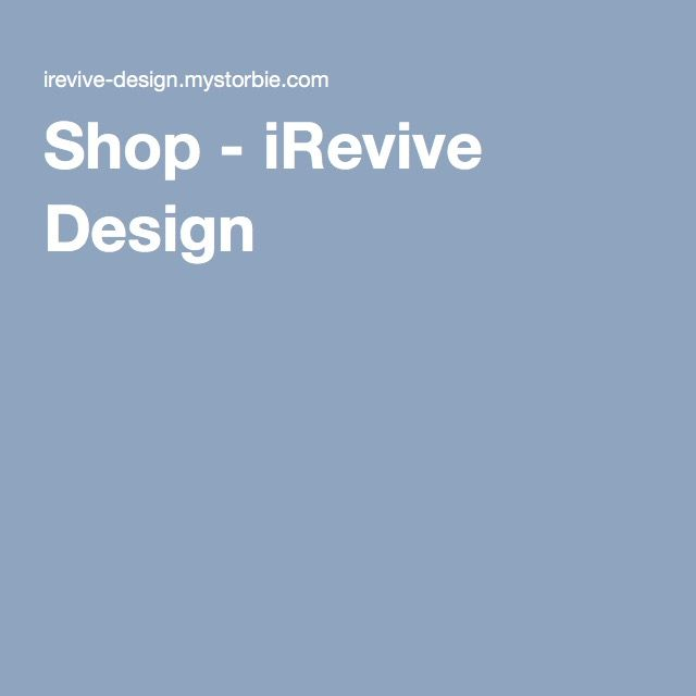 Shop - iRevive Design