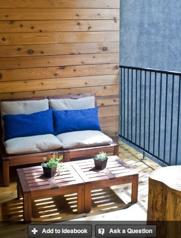 balcony decor with chairs from Ikea