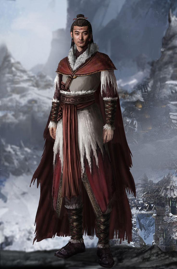 artstation character fantasy asian concept village wizard modeling forest cloak robes male characters warrior dnd role daxin lee reference races