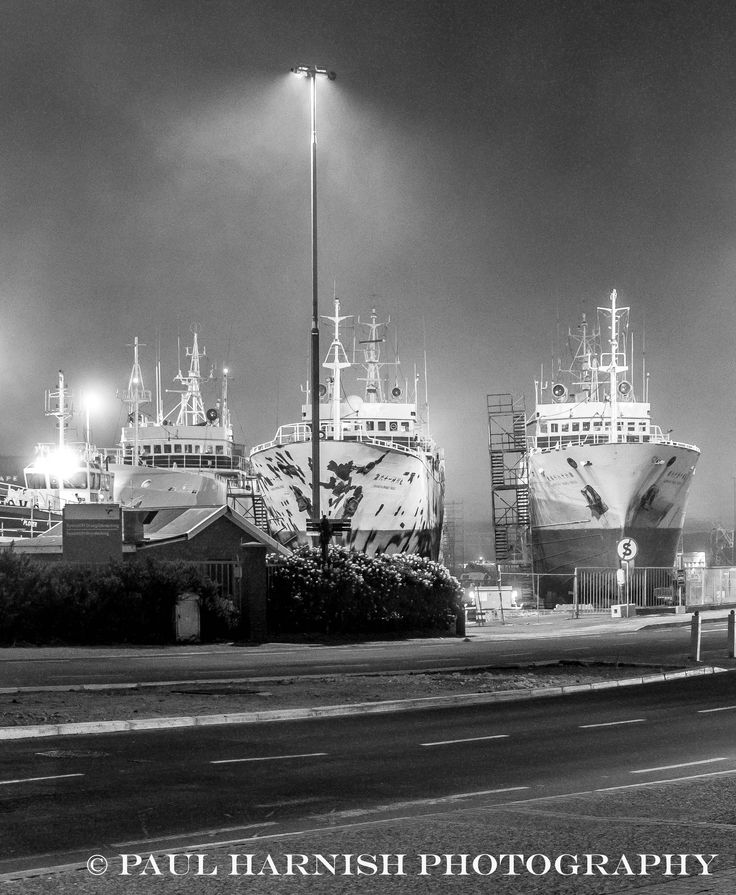 Ships on boat stands Cape Town SA © Paul Harnish Photography