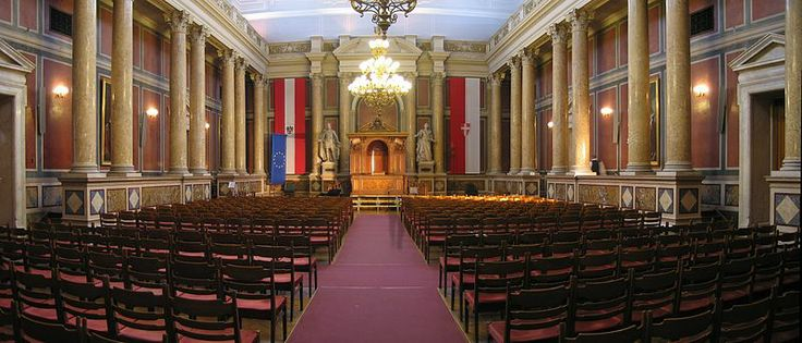 Main Ceremonial Chamber in the Main Building of the University of Vienna