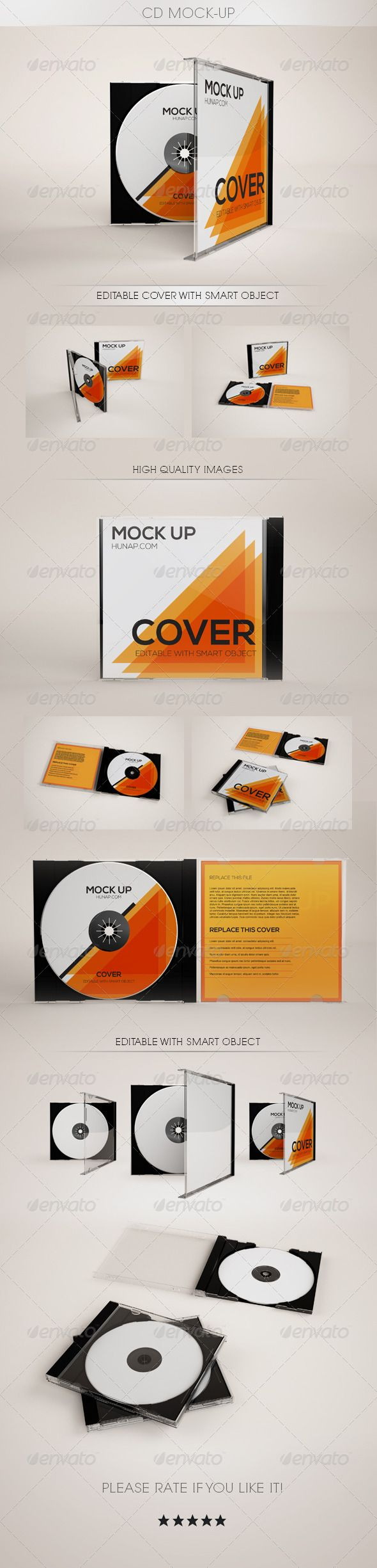 CD Mock-Up - Discs Packaging