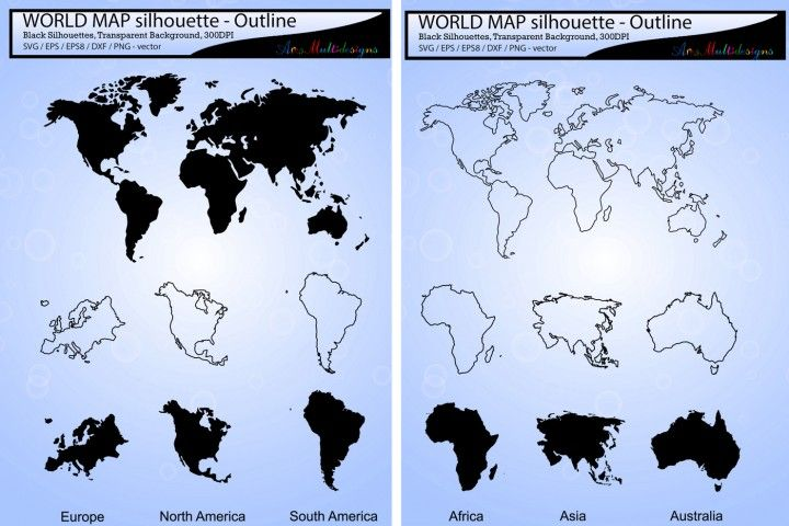 New Link World Map Silhouette World Map Outline Map Outline